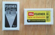 Feather Duo (8) Double Edge Safety Razor Blades Japan