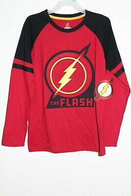 DC Comics Distressed Flash Logo Camisa Manga Larga para Ni/ños
