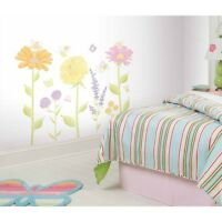 Fairies & Flowers Wall Mural Decals Baby Nursery Stickers Girls Floral Decor