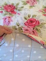 CATH KIDSTON ROSE BOUQUET QUILTED BEDSPREAD VGC BEDDING BED RRP£145