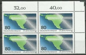 Federal-Frg-Minr-1302-Mint-Block-of-Four-Corner-2-Unfolded