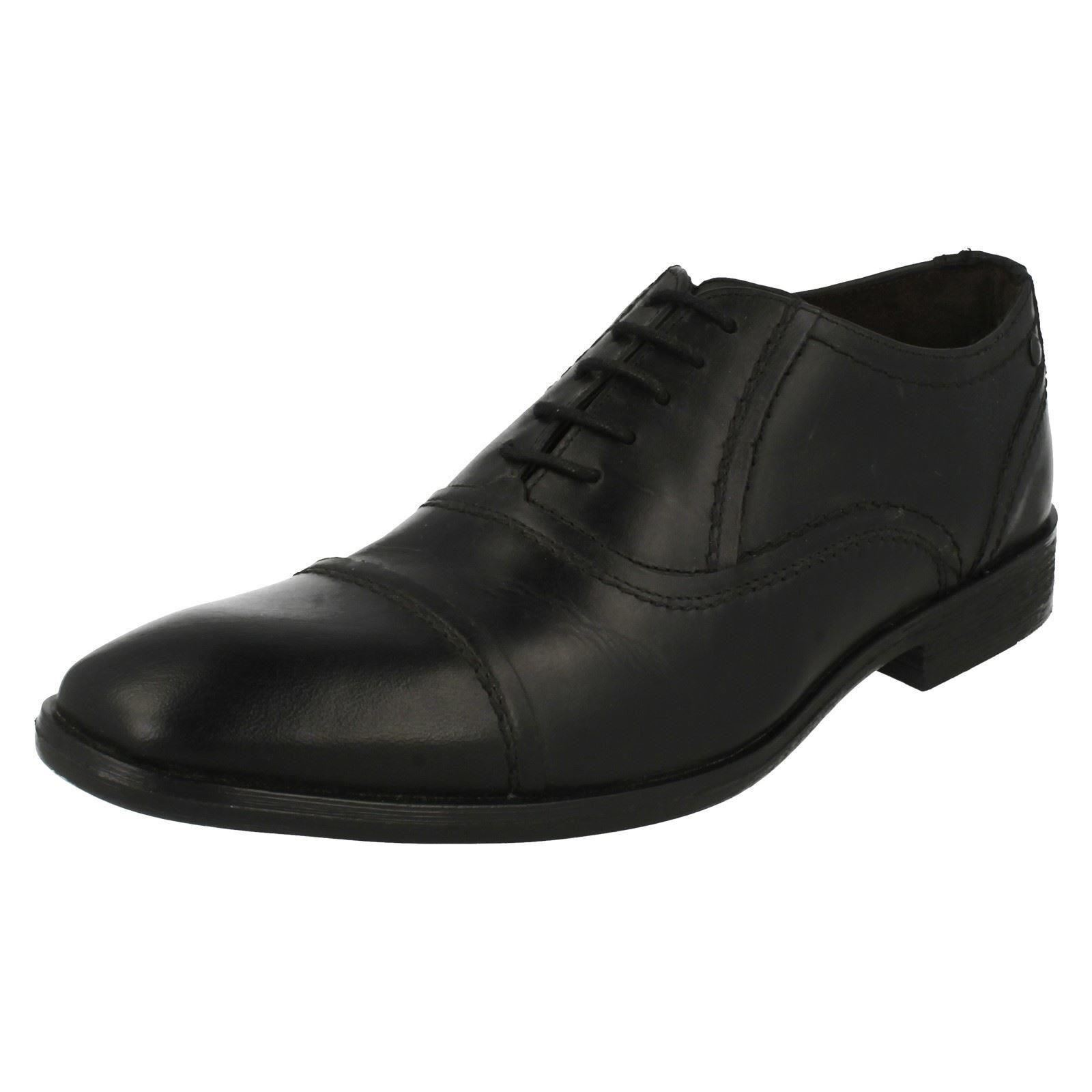 SALE Mens style SAGE waxy black  lace up shoes By Base London Retail