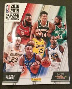 Album-Stickers-Panini-Basketball-NBA-2018-19-vide-a-complete-avec-6-Autocollants