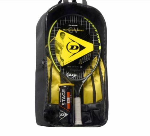 """Dunlop Kinder Tennisset 23/"""" Junior Tennisschläger 23/"""" Rucksack und Bälle"""