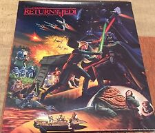 Vintage Original Coca Cola Star Wars Return Of The Jedi Film Poster Mint Rare