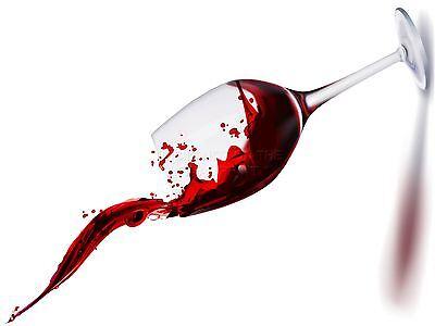 ART PRINT POSTER PAINTING DRAWING RED WINE GLASS TILT SPLASH LFMP0429