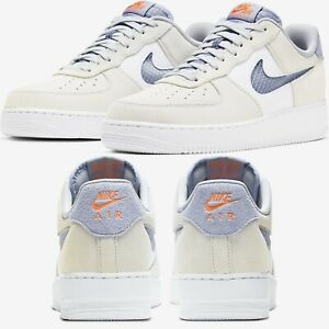 Nike-Air-Force-1-Low-Sneakers-Men-039-s-Lifestyle-Comfy-Shoes-Indigo-Fog