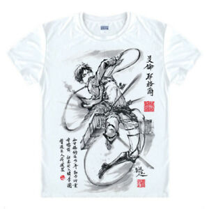 Anime-Attack-on-Titan-Rival-Casual-T-shirt-Short-Sleeve-Unisex-Tops-Ink-style-3