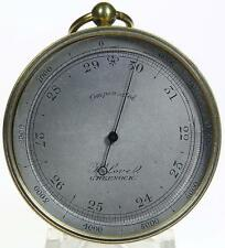 Polished brass Scottish pocket aneroid barometer & altimeter
