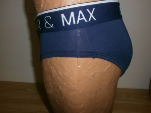 Parker /& Max Micro Luxe Brief Dark Navy Blue Size X-Large Item #1005IM PMFP-B1