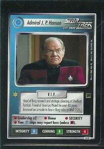 Star Trek Holodeck RARE Admiral J.P Hanson 64R NM//M