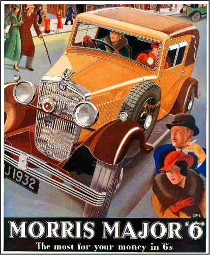 Morris Major 6 Automobile Car Advertisement Art Poster