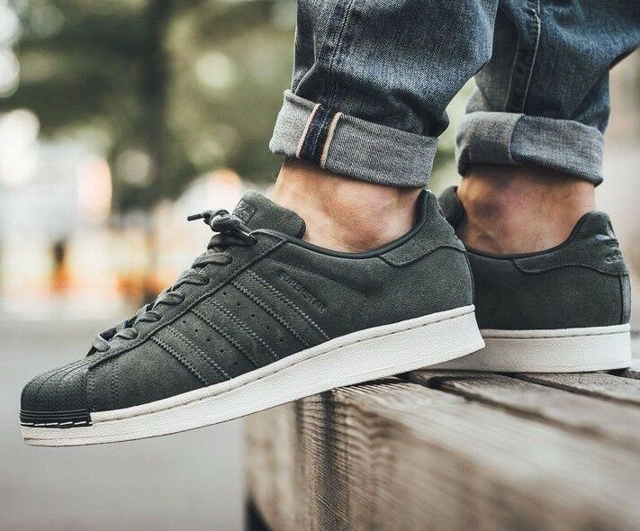 ADIDAS Uomo ORIGINALS SUPERSTAR GREEN SUEDE 6.5 SHOES BZ0200 GAZELLE SIZE 6.5 SUEDE 7 374d8e
