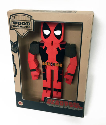 Deadpool Wood Wooden Warrior 8 inches tall Marvel Comics PPW 08942