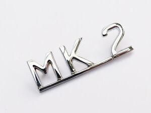 Jaguar-Marque-2-Mk2-Mk-II-Chrome-Inscription-Coffre-Couvercle-Badge-BD27194