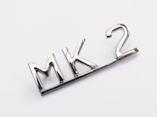 Mk II Chrome Script Boot Lid Badge BD27194 Mk2 Jaguar Mark 2