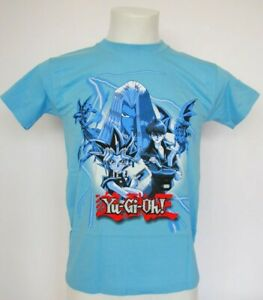 Enfants-Shirt-Yu-Gi-Oh-Characters-blau-taille-128-134-NOUVEAU-amp-NEUF-dans-sa-boite