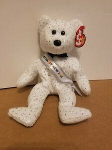 TY NEW YEAR 2007 the BEAR BEANIE BABY - NEW