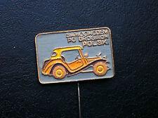 OLD VINTAGE- PIN - BADGE - SAMOCHODEM PO DROGACH - car club - Poland