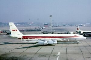 Trans World Airlines Boeing 707-300B N18702 at Heathrow (1966) Photograph