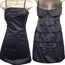 Karen Millen Black Evening Cocktail Dress Size UK 12 38 Bustle Back Party LBD