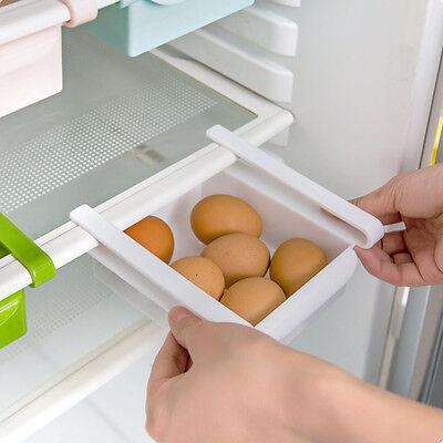 Slide Kitchen Freezer Fridge Space Saver Storage Box Organizer Holder Shelf Rack