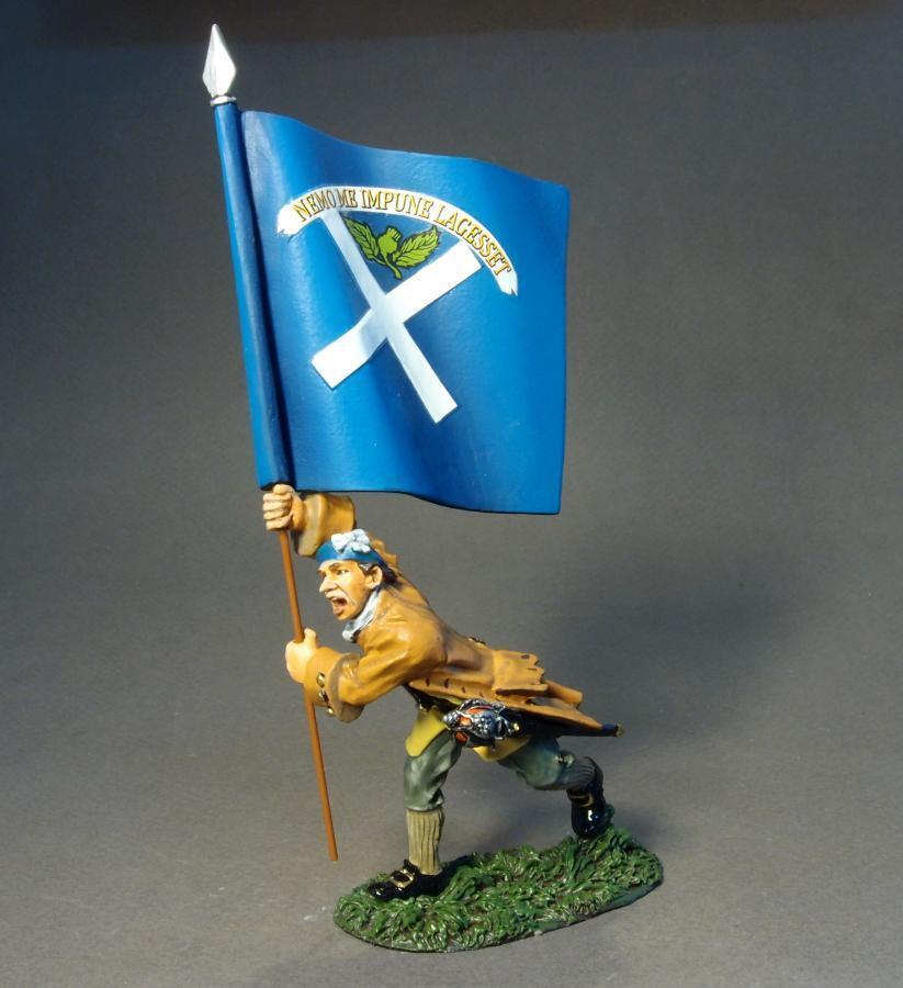John Jenkins Jakobitischen Rebellion JR-25 Lowland Infanterie Ladung Flagge