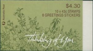 Australia-booklet-1990-SG1231-43c-Thinking-Of-You-MNH