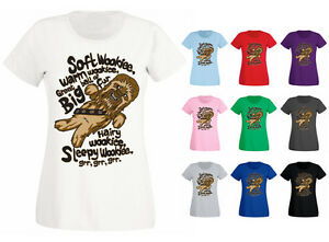 bcf61b7c5 Womens Soft Wookie Warm Wookie Funny Slogan T-shirt NEW UK 6-18 | eBay