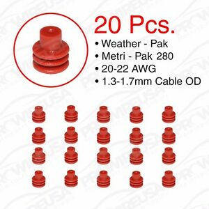 Weather Pack Metri-Pack 280 Series Red Seal 20-22 AWG 20 PCS