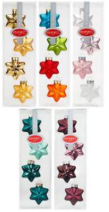 Christbaumkugeln Sterne.Details Zu 4 Weihnachtskugeln Sterne 6cm Christbaumkugeln Strahlenstern Inge Glas Magic