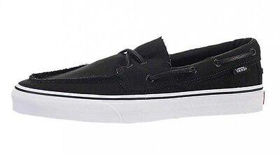 vans zapato del barco black white
