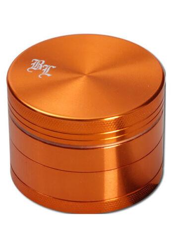 Mulino spezie arancione!!! BLACK LEAF grinder in alluminio 4 pezzi 40mm ALLUMINIO Mulino 4tlg