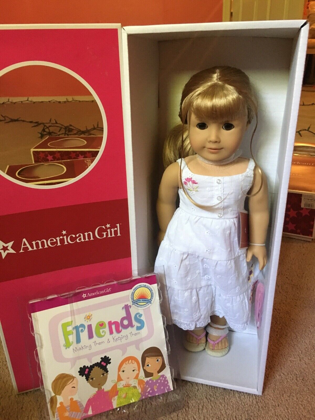 American Girl GWEN Doll & Book NEW NEVER REMOVED
