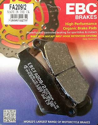 EBC/FA209/2 Brake Pads (Front) - BMW G650GS, G650 Xchallenge / Xcountry, F800GS