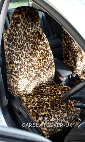 Full Set Renault Clio Sport Tourer LEOPARD Faux Fur Furry Car Seat Covers