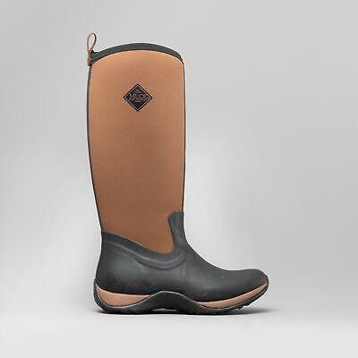 Muck Boots ARCTIC ADVENTURE Ladies Waterproof Winter Wellington Boots Black//Tan