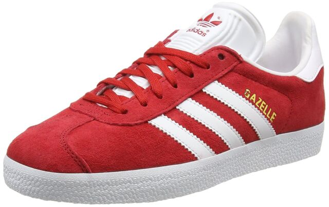 various colors f16b8 65b9c ADIDAS GAZELLE SCARLET WHITE GOLD METALLIC S76228 MENS US SIZES