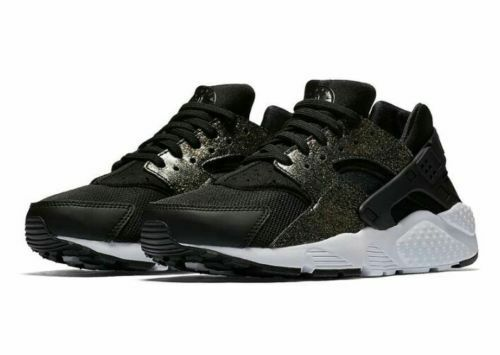 NIKE AIR HUARACHE RUN ULTRA SE (GS) TRAINERS SIZE UK 4 EUR 36.5 BLACK Damenschuhe