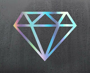 DIAMOND-Chrome-holographic-vinyl-sticker-funny-car-decal-JDM-DUB-bumper-stickers