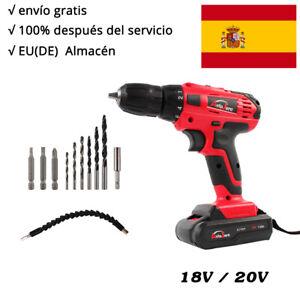Taladro Atornillador a Bateria 18V 20V Litio Sin Cable Con Maletin Una Baterías