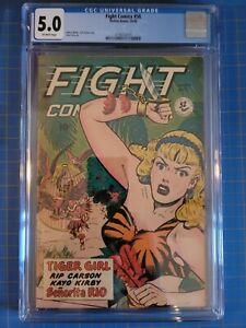 FIGHT COMICS #58 Tiger Girl, CGC VG/FN 5.0, Jack Kamen-a, Fiction House (1948)