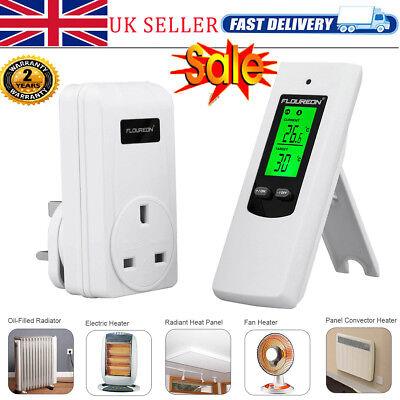 FLOUREON Remote Control Wireless RF Plug In Thermostat Temperature Controller UK