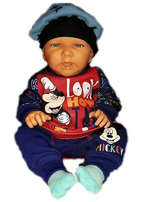 Set Gr.62 68 80 86 92 cm NEU Disney Micky Maus Baby Jungen Freizeitanzug 2tlg
