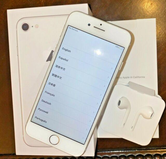 Apple iPhone 8 - 64GB - Silver (Unlocked) A1863 (CDMA + GSM) Mint Condition