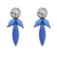 Ladies Cute Diamonte Crystal & Coloured Arcylic Studs Earrings - Brand New