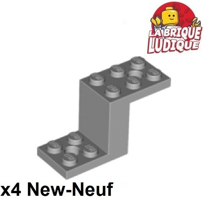 New LEGO BRACKET Light Bluish Gray Lot of 2 5x2x2-1//3 2 with Holes Part 76766