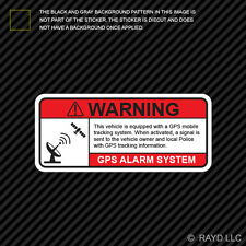 GPS Anti Theft Vehicle Security Warning Alarm Sticker Decal Self Adhesive Vinyl