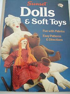 1977 Sunset Dolls Soft Toys To Make Bear Doll Making Fabric Cloth