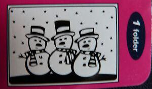 Crafts-Too-CTFD3009-C6-Embossing-Folder-Snowmen-Christmas